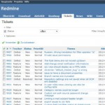 Screenshot von Redmine